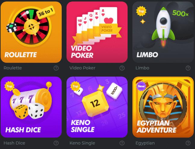 Enjoy Various Games at BC.Game Casino