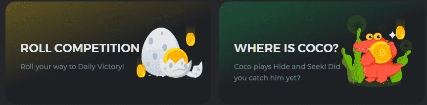 Get Bonuses Like ROLL COMPETITION, WHERE IS COCO?, And More